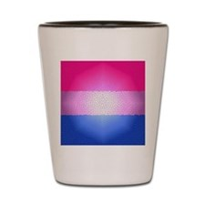 Bisexual Pride Flag - Stained Glass Des Shot Glass