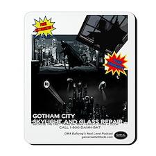 Gotham City Glass Repair Mousepad