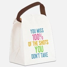 bottle You miss 100% of the shots Canvas Lunch Bag