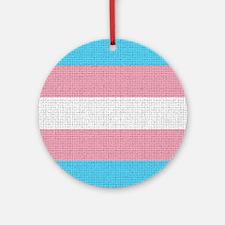 Transgender Pride Flag - Craquelure Round Ornament