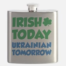 Irish Today Ukrainian Tomorrow Flask