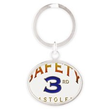 SAFETY THIRD Oval Keychain