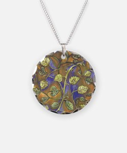 Undulating Leaves From Raspb Necklace