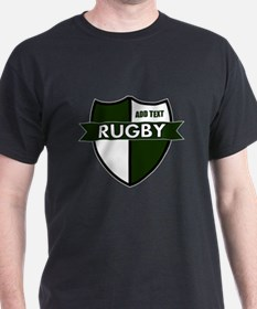 Rugby Shield White Green T-Shirt