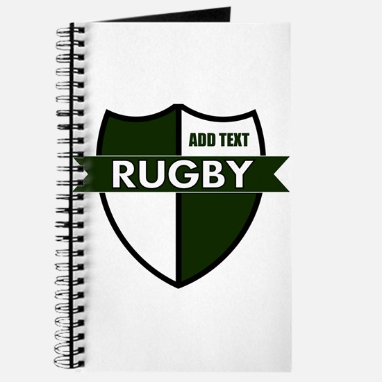 Rugby Shield White Green Journal