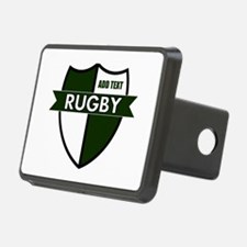 Rugby Shield White Green Hitch Cover