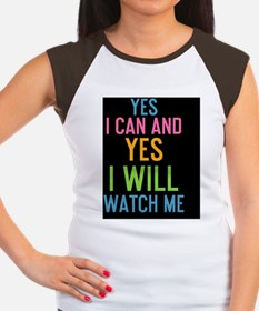 card Yes I can and Yes  Women's Cap Sleeve T-Shirt