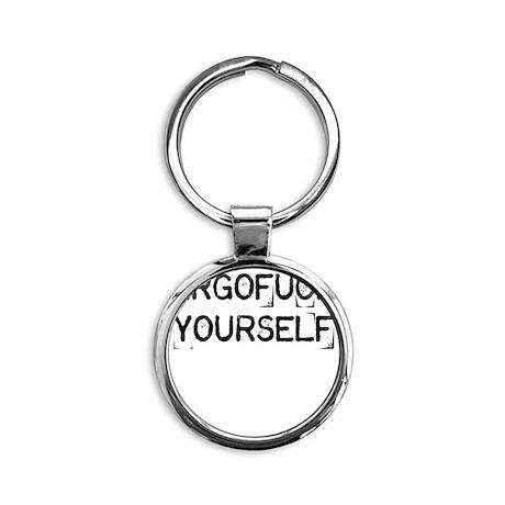 Argofuck Yourself Round Keychain