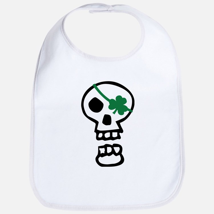 St Patricks Pirate Skull Bib