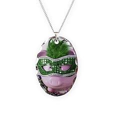 Mardi Gras Pig Necklace
