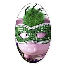 Mardi Gras Pig Decal