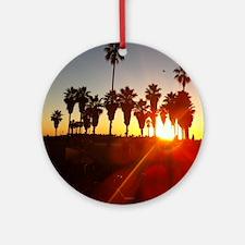 Palm Trees at Venice Beach Round Ornament