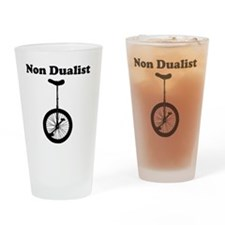 Non Dualist Unicycle Light Drinking Glass
