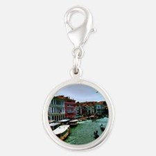 Venice - Grand Canal Silver Round Charm