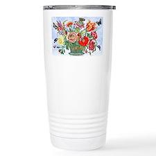 12 Basket Flowers ... Travel Mug