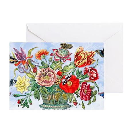 12 Basket Flowers ... Greeting Card
