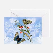 11 Vintage Berries  Butterflies M S  Greeting Card