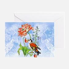 3 Vintage Bird, Mums M S Merian Greeting Card