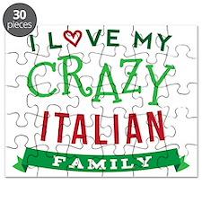 I Love My Crazy Italian Family Puzzle