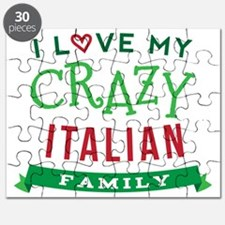 I Love My Crazy Italian Family Puzzle