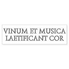 VINUM ET MUSICA Bumper Bumper Sticker