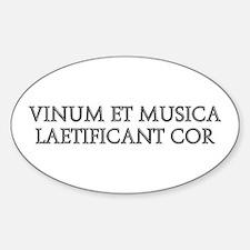 VINUM ET MUSICA Oval Decal