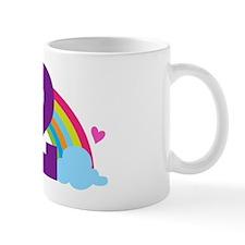 2nd Birthday Hearts and Rainbow Mug