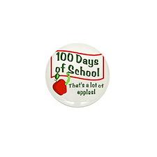 100th Day Apple Mini Button