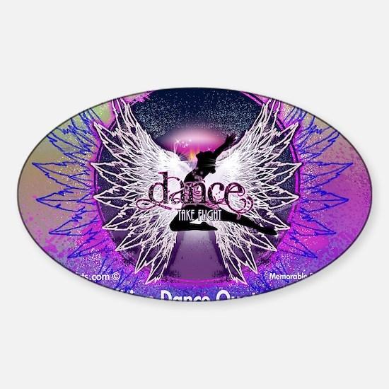 Dance Quotes Calendar Sticker (Oval)