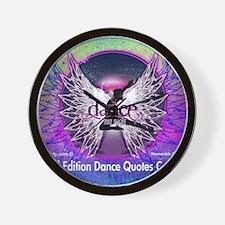 Dance Quotes Calendar Wall Clock