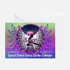 Dance Quotes Calendar Greeting Card