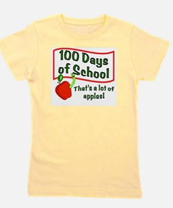 100th Day Apple Girl's Tee