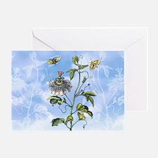 6 Vintage Passion Flower Vine M S Me Greeting Card