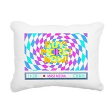 Mass Media (Trans) Rectangular Canvas Pillow