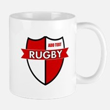 Rugby Shield White Red Mug