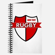 Rugby Shield White Red Journal