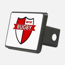 Rugby Shield White Red Hitch Cover