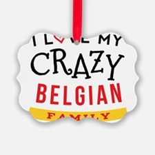 I Love My Crazy Belgian Family Ornament