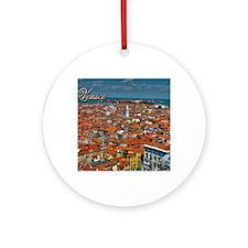 Venice Postcard Round Ornament