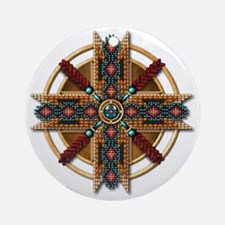 Native American Mandala 01 Round Ornament