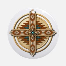 Native American Mandala 03 Round Ornament