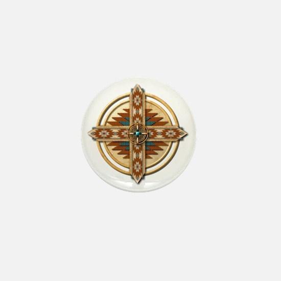 Native American Mandala 03 Mini Button