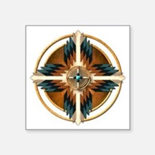 "Native American Mandala 02 Square Sticker 3"" x 3"""