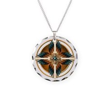 Native American Mandala 02 Necklace Circle Charm
