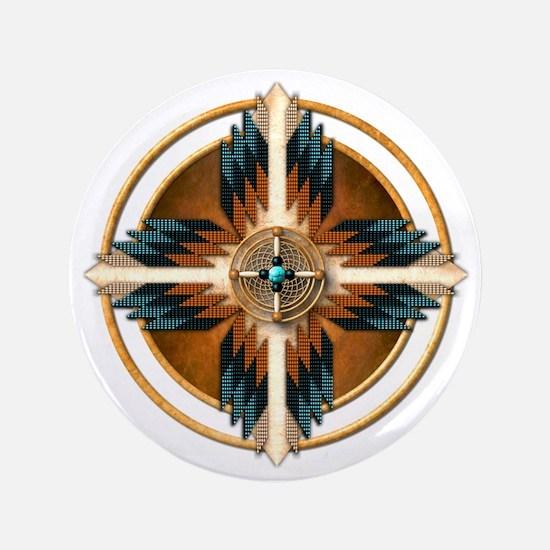 "Native American Mandala 02 3.5"" Button"