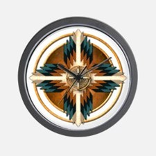 Native American Mandala 02 Wall Clock