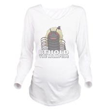Charlie-D23-WhiteApp Long Sleeve Maternity T-Shirt
