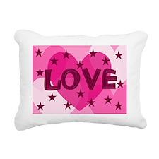 Valentines Day Card Love Rectangular Canvas Pillow