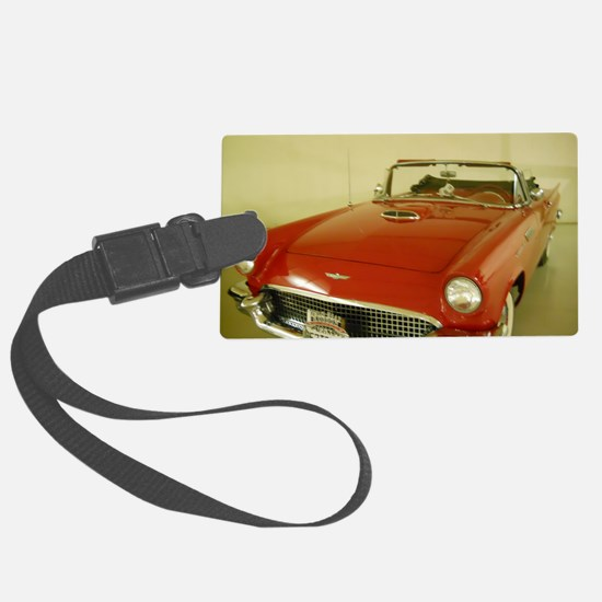 Red 1957 Ford Thunderbird Luggage Tag
