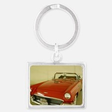 Red 1957 Ford Thunderbird Landscape Keychain